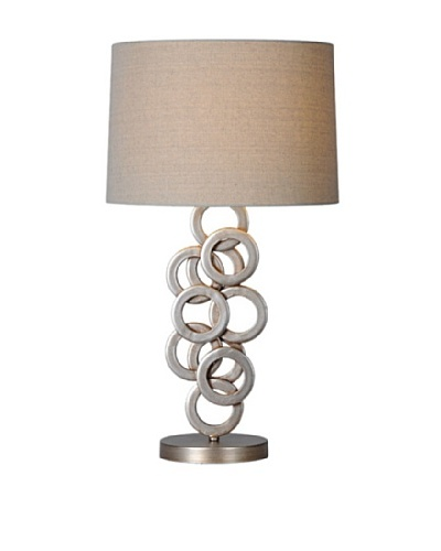 Brunella Table Lamp, Antique Silver