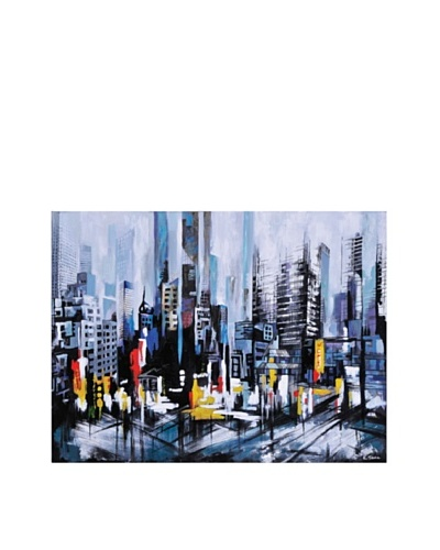 Metro Heights Hand-Painted Canvas