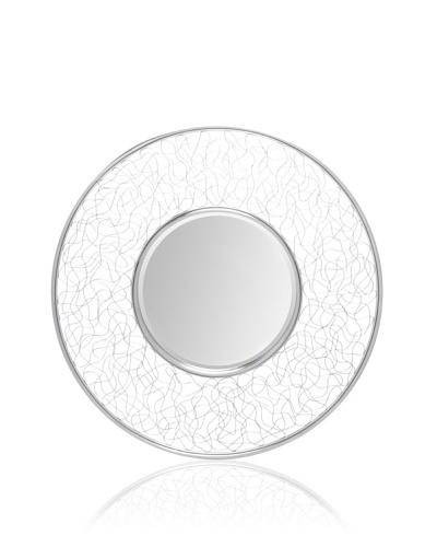 Ren-Wil Curvy Mesh-Frame Mirror, Silver