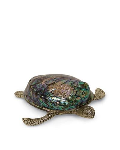Palecek Silver Pearl Shell Turtle