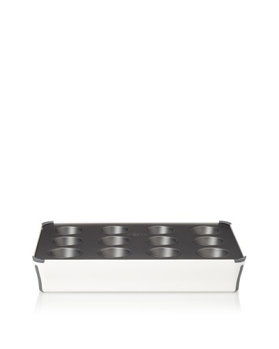 Reston Lloyd Bake Porter 12-Cup Muffin Pan with Serving Cover [Grey]