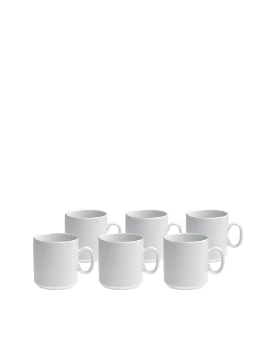REVOL Set of 6 12-Oz. Coffee Mugs, White