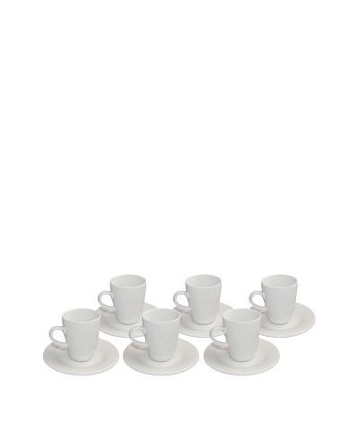 REVOL Lipari Set of 6 4-Oz. Espresso Cups and Saucers