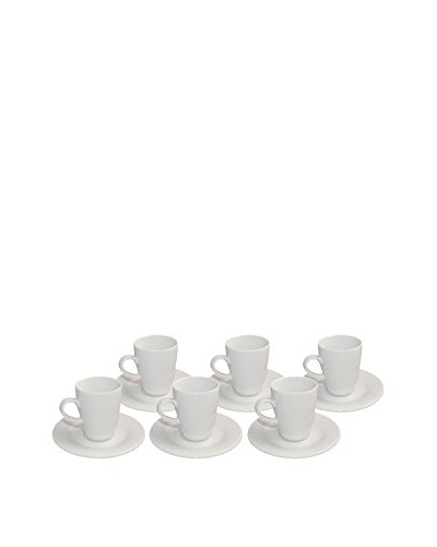 REVOL Lipari Set of 6 4-Oz. Espresso Cups and Saucers