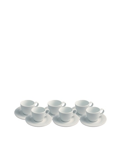 REVOL Set of 6 Mocha Cups & Saucers