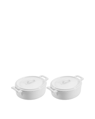 REVOL Set of 2 Oval Cocotte with Lids