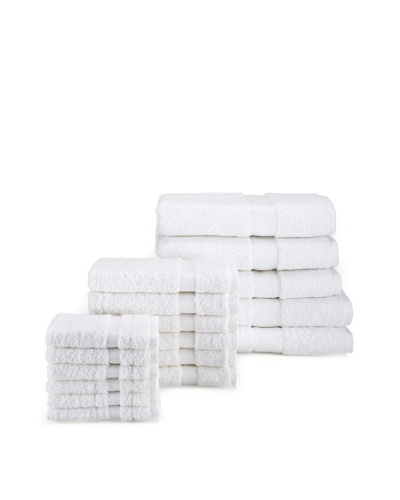 Chortex Rhapsody Royale 17-Piece Bath Towel Set, White