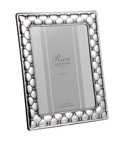"Ricci Cushion Sterling Silver Frame, 5"" x 7"""