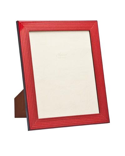 """Ricci Bengale High Gloss Wood Photo Frame, Maroon/Black, 4"""" x 6"""""""