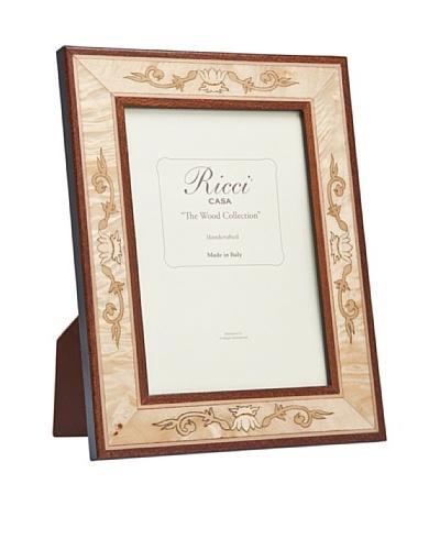 Ricci Luigi Pioppo Scroll Burl Wood Frame, Tan/Brown