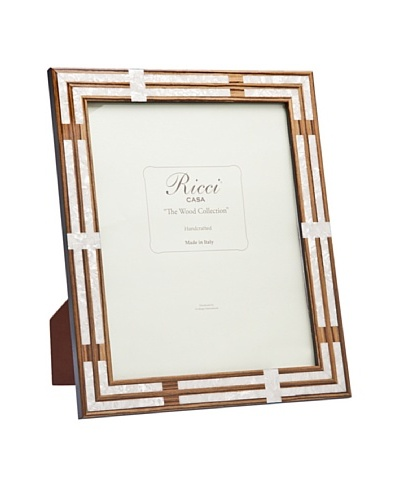 Ricci Cornelia Inlaid Wood with Mother of Pearl Specks Frame, BeigeAs You See