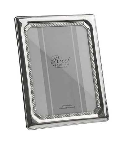 Ricci Tri-Bead Sterling Silver Photo Frame