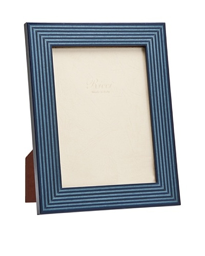 Ricci Bengale High Gloss Wood Frame, Blue/Black