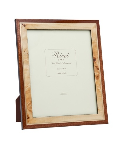 Ricci Pioppa Hand Crafted Overlayed Burl Wood Frame, Tan/BrownAs You See