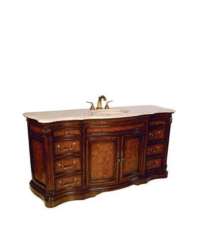 River Road Collection Four Seasons Sink Chest, Mahogany/IvoryAs You See
