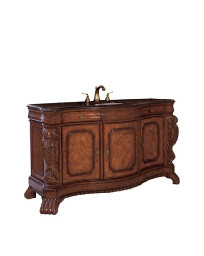 River Road Collection Asbury Sink Chest, Pine/Granite