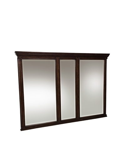 River Road Collection Verona Grand Mirror, Brown/Black