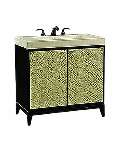 River Road Collection Luster Sink Chest, Dark/Multi Capiz ShellAs You See