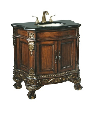 River Road Collection Ball & Claw Medium Sink Chest, Mahogany/BlackAs You See