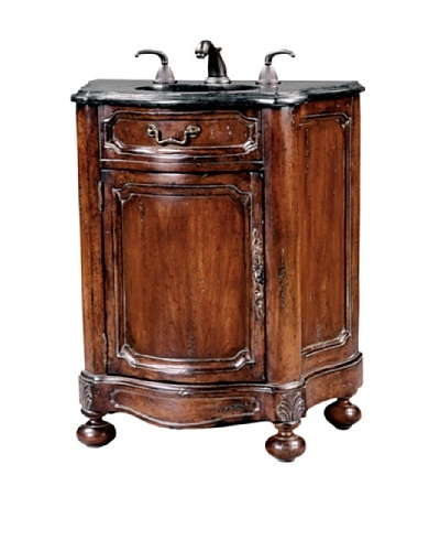 River Road Collection Noble Petite Sink Chest, Antiqued/BlackAs You See