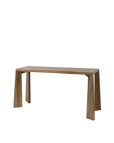 Roche Bobois Horizon Walnut Finish Console