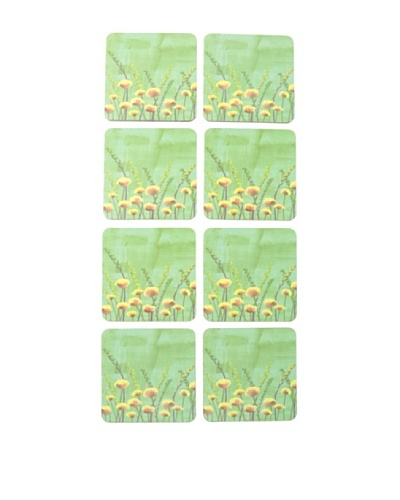 rockflowerpaper Set of 8 Marigolds Drink Coasters