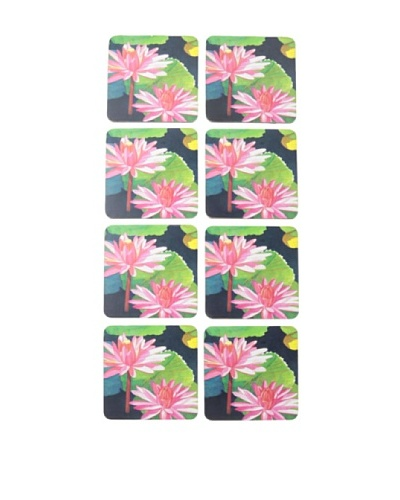 rockflowerpaper Set of 8 Water Lilies Drink Coasters