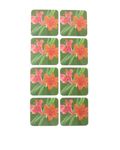 rockflowerpaper Set of 8 Amaryllis Drink Coasters