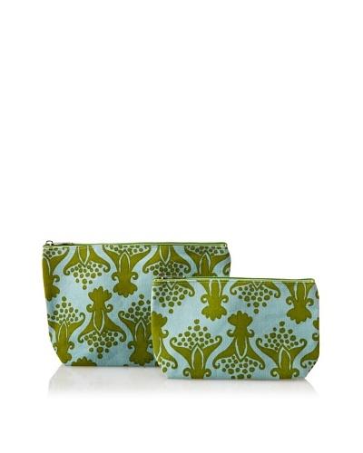 RockFlowerPaper Tulip Green Zip Bags (Set of 2)