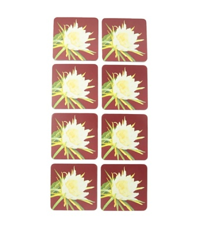 rockflowerpaper Set of 8 Blooming Cereus Drink Coasters