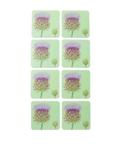 rockflowerpaper Set of 8 Cardoon Drink Coasters