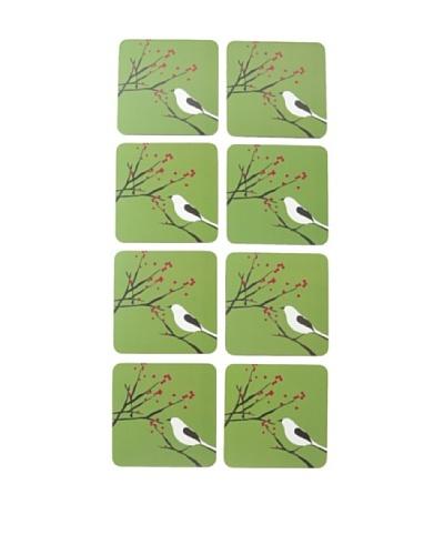 rockflowerpaper Set of 8 Snowy Bird Coasters