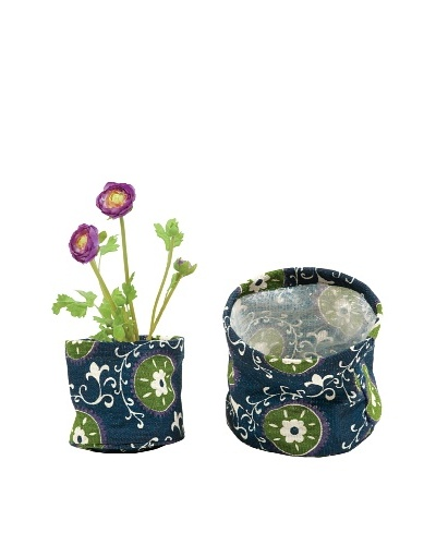 rockflowerpaper Set of 2 Jute Potted Plant Covers