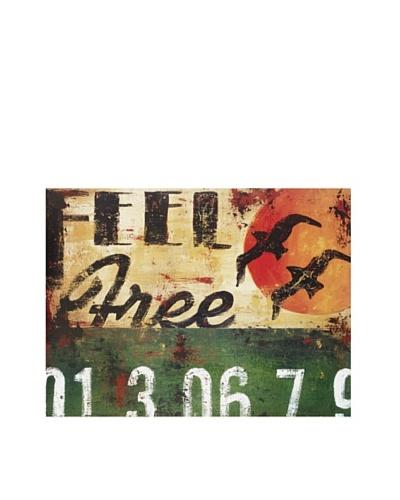 Rodney White Feel Free, 15″ x 20″