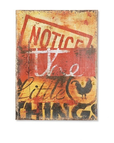 "Rodney White ""Notice The Little Things"" Printed Art"