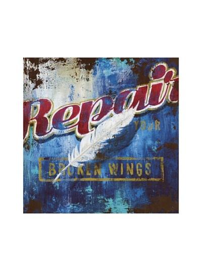 """Rodney White Broken Wings, 36"""" x 36"""""""
