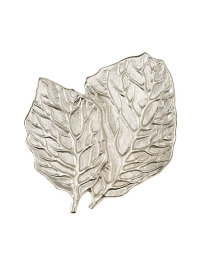 Rojo 16 Aluminium Decorative Leaf, Silver