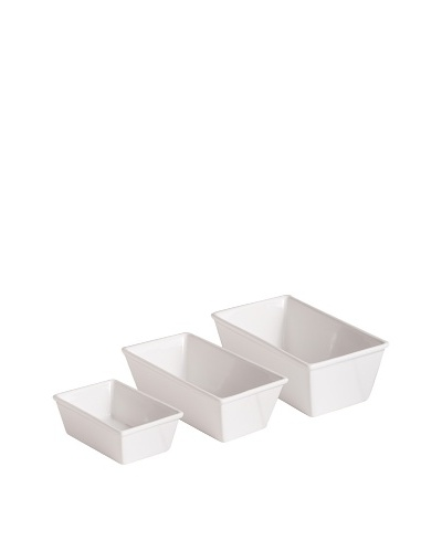 Rosanna Set of 3 White Bungalow Loaf Pans