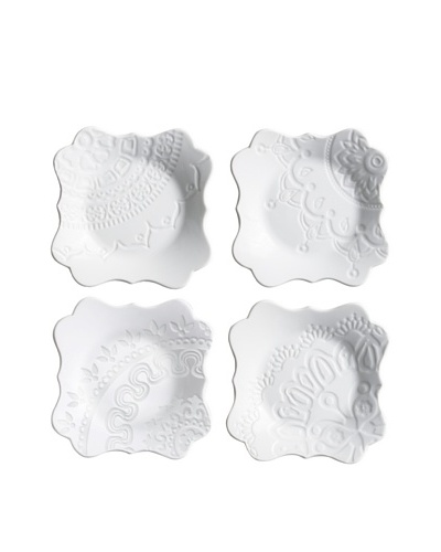 Rosanna Set of 4 Filigree Appetizer Plates