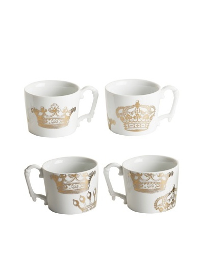 Rosanna Set of 4 Assorted Kings Road 12-Oz. Mugs