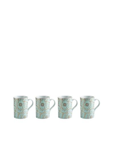 Rosanna Set of 4 Assorted Arabesque 10-Oz. Mugs