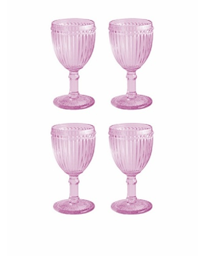 Rosanna Set of 4 Classique 8-Oz. Glasses, Pink