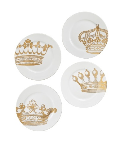 Rosanna Set of 4 Assorted Kings Road Dessert Plates