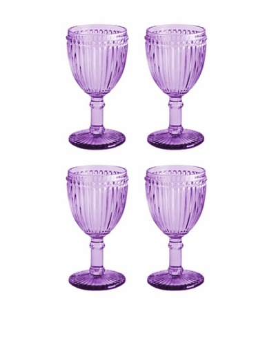 Rosanna Set of 4 Classique 8-Oz. Glasses, Purple