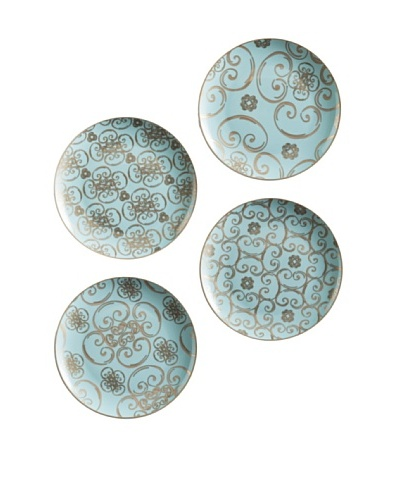 Rosanna Set of 4 Assorted Arabesque Dessert Plates