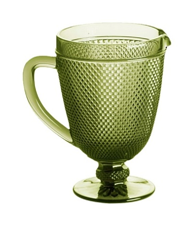 Rosanna Pressed Glass 40-Oz. Pitcher, Olive