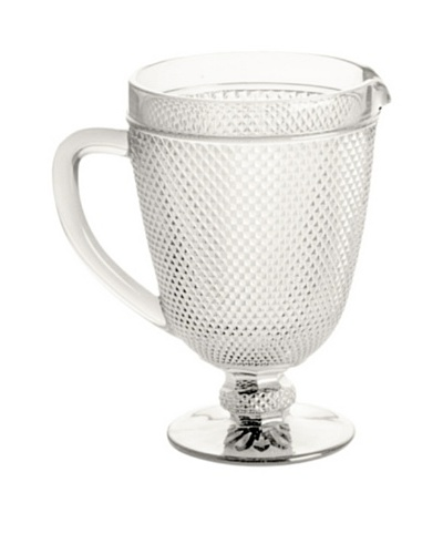 Rosanna Pressed Glass 40-Oz. Pitcher, Clear