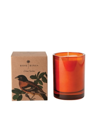 Rosy Rings Botanical Glass Candle, Citrus Nectar