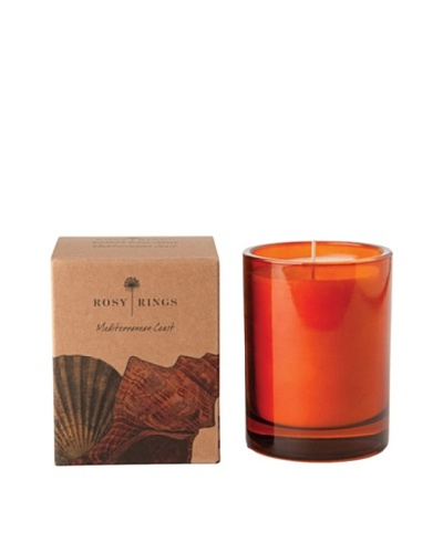 Rosy Rings Botanical Glass Candle, Mediterranean Coast