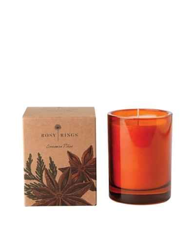 Rosy Rings Botanical Glass Candle, Cinnamon PiñonAs You See